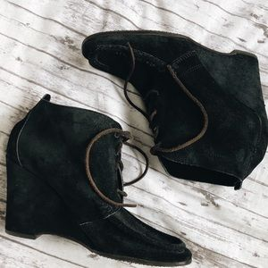 Michael Kors   Lace Up Suede Booties